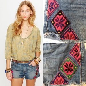 Free People | Moroccan Patch Cutoff Shorts